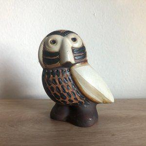 vtg owl figurine, vintage owl sculpture, vtg owl